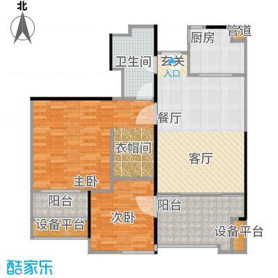 万科金色家园92.00㎡C栋402-3002单元户型