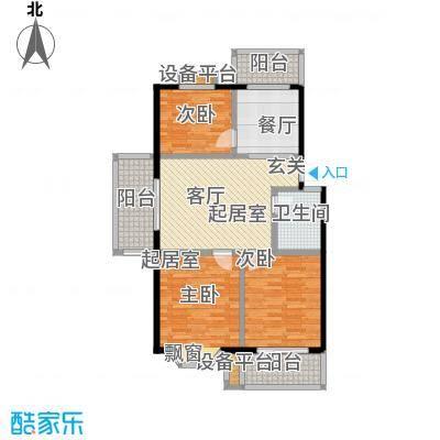 腾泰花苑户型2室1厅1卫