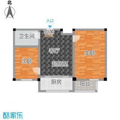 鹏辉裕景轩67.10㎡A户型
