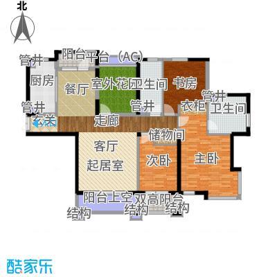 中海华庭167.00㎡高层E户型