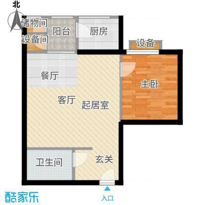 曲江雁唐府邸67.89㎡A型结构户型