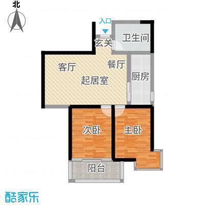 华宇上领国际公寓88.57㎡1#C户型