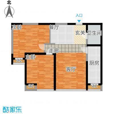 珠江京津国际城95.00㎡高层标准层B户型