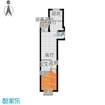 东洲家园64.00㎡1-5号楼G户型