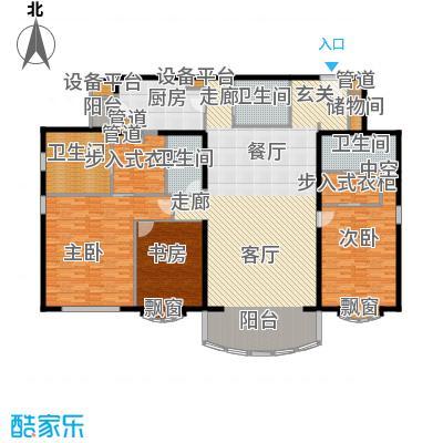 北京四季世家251.00㎡三居户型