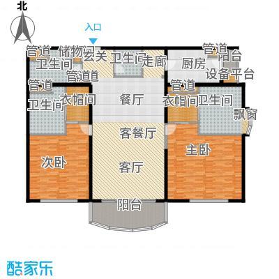 北京四季世家242.00㎡二居(售罄)户型