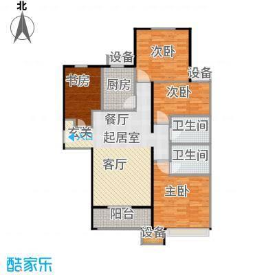 鸿坤·原乡溪谷123.06㎡鸿坤・原乡溪谷高层A户型