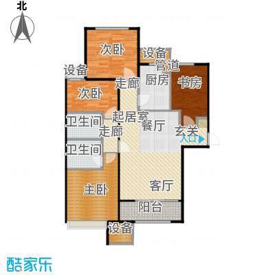 鸿坤·原乡溪谷123.06㎡鸿坤・原乡溪谷高层A反户型