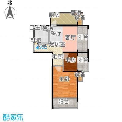 鸿坤·原乡溪谷75.68㎡鸿坤・原乡溪谷高层c反户型