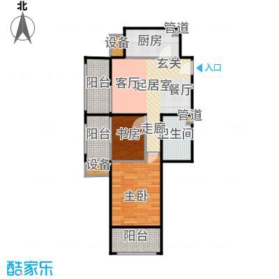 鸿坤·原乡溪谷71.33㎡鸿坤・原乡溪谷高层D户型