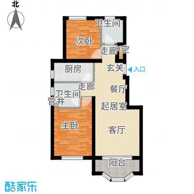 通泰·香滨城88.00㎡通泰・香滨城B-1户型