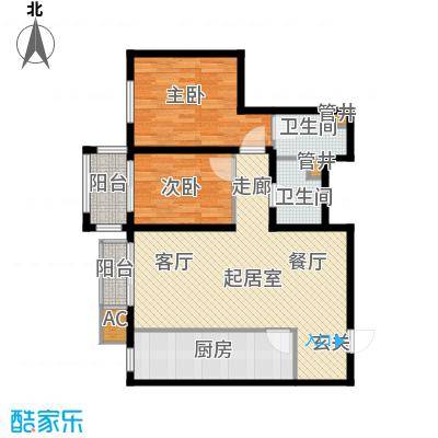 行宫·御东园98.67㎡行宫・御东园4号楼B7户型