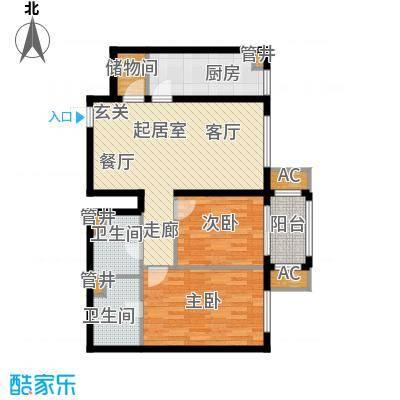 行宫·御东园87.75㎡行宫・御东园3号楼B4户型