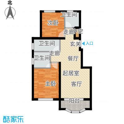 通泰·香滨城88.00㎡通泰・香滨城高层标准层B1户型