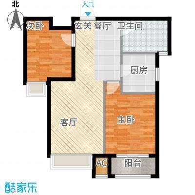 香邑廊桥84.00㎡高层F2户型