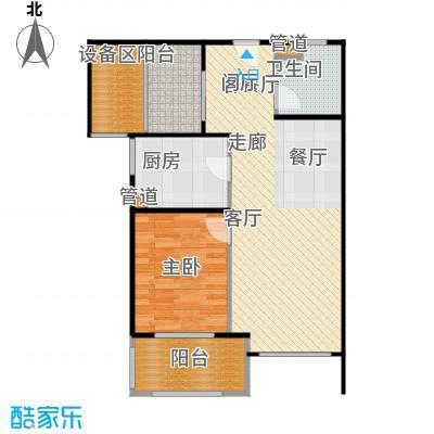 新弘国际阳光城72.28㎡B-2奇数层户型