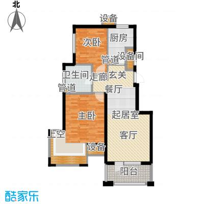 新弘国际阳光城81.07㎡E-1偶数层户型