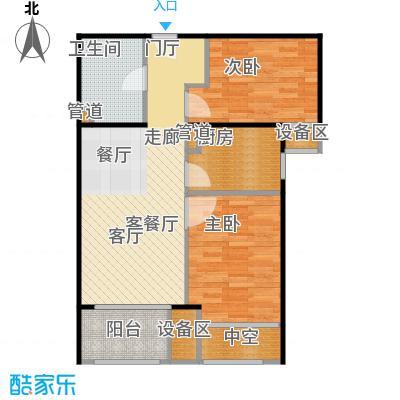新弘国际阳光城69.90㎡D-2偶数层户型