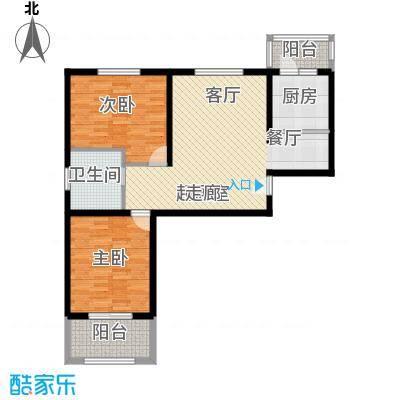 壹城公馆90.00㎡一期1、2号楼A户型