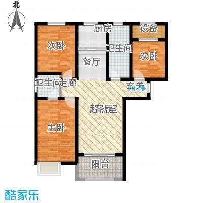 壹城公馆110.00㎡一期3、4号楼D户型