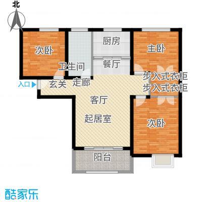 壹城公馆115.00㎡一期1、2号楼C户型