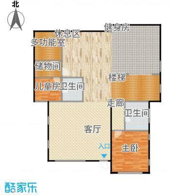 康城暖山157.21㎡A1-3庭院户型