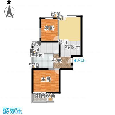 新景家园81.00㎡二期D单元A面积8100m户型