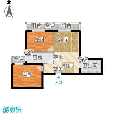 强佑清河新城86.75㎡二期D2户型