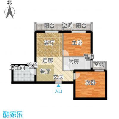 强佑清河新城87.35㎡二期C5户型