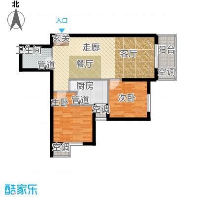 强佑清河新城86.75㎡二期D5户型