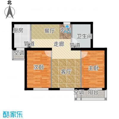 强佑清河新城87.46㎡二期D1户型