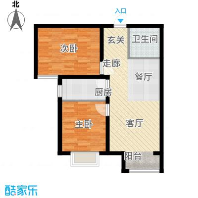 香城俪景二期82.32㎡一期1号楼B1户型