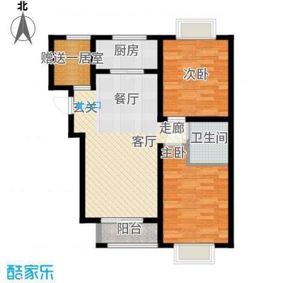 香城俪景二期88.56㎡一期2号楼F户型