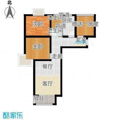香城俪景二期82.18㎡一期2号楼A1户型