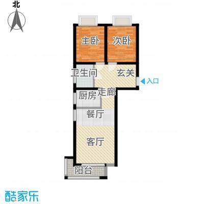 香城俪景二期86.56㎡一期2号楼A户型