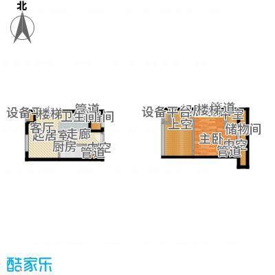 北京城建·N次方50.61㎡北京城建・N次方21#综合楼D户型