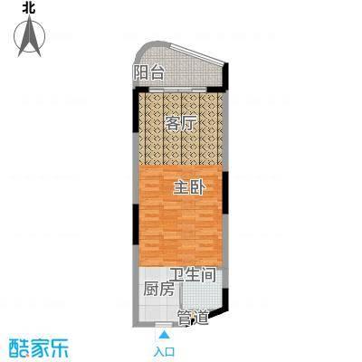 中信博鳌山钦湾53.50㎡D1户型
