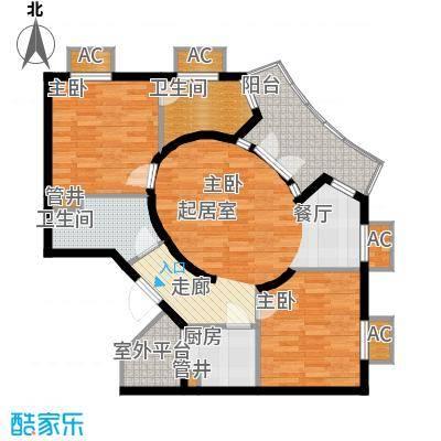 长滩雨林97.00㎡花园洋房2F户型
