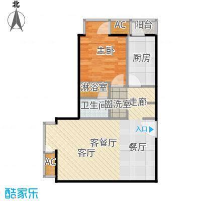 和平里de小镇67.22㎡二期6号楼T面积6722m户型