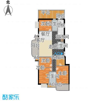 富贵园179.00㎡三期1#二层Aa面积17900m户型