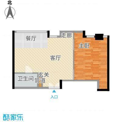 华贸国际公寓69.98㎡D座02型面积6998m户型