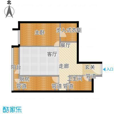 华贸国际公寓82.14㎡E座02型面积8214m户型