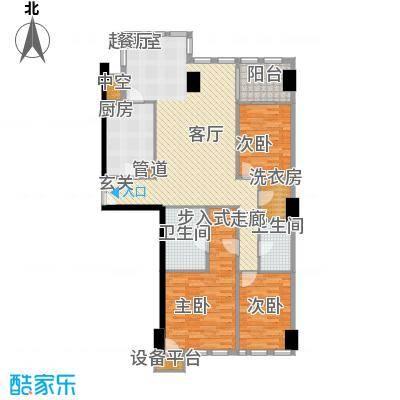 西钓鱼台嘉园153.87㎡三号楼4单元面积15387m户型