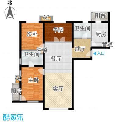 百子湾家园139.00㎡B面积13900m户型