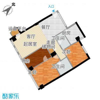 西钓鱼台嘉园123.42㎡三号楼2单元面积12342m户型