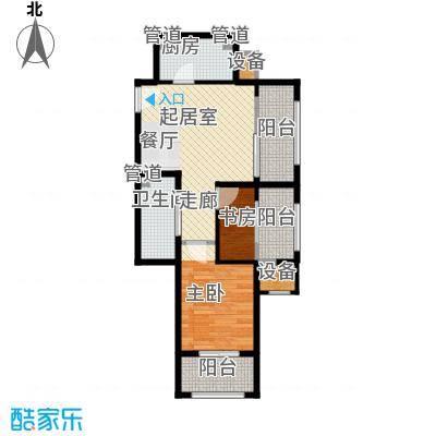 鸿坤·原乡溪谷71.33㎡鸿坤・原乡溪谷高层d反户型