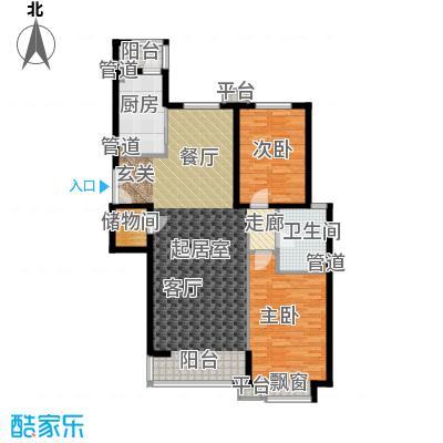 嘉铭桐城114.00㎡D1-A1单元012室面积11400m户型
