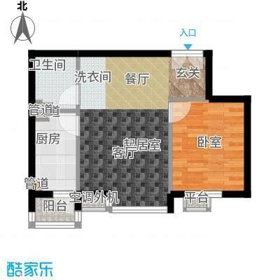 嘉铭桐城124.00㎡D1-A1单元022室面积12400m户型