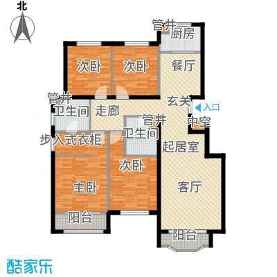 通泰·香滨城143.00㎡通泰・香滨城电梯洋房标准层C1户型