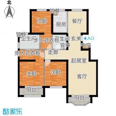 通泰·香滨城133.00㎡通泰・香滨城电梯洋房标准层A1户型